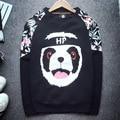 2016 Autumn Women's Sweatshirts Panda Printing Cotton Long Sleeve Pullover Harajuku Loose Fashion Female Coat Hoodies JA7091