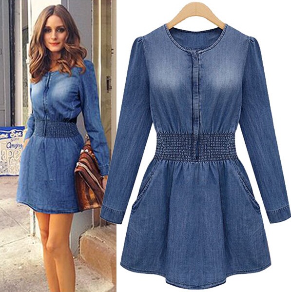 Vestidos de blue jeans para damas