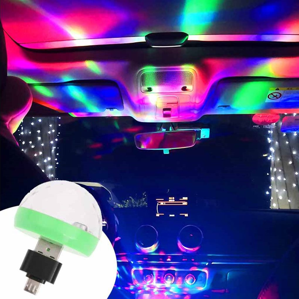 2019 Cellphone Powered USB Port Small Stage Lamp Colorful 4 Led Light Lightweight 5V Light Bulb