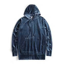 2018 New Arrived Kanye West Streetwear Solid Color100% Velvet Hoodies Men Pullovers Hip Hop Long sweatshirts Youth Popular S-XL 4