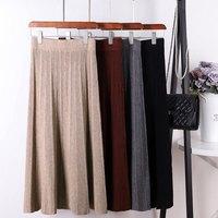 Тёплая юбка длины миди