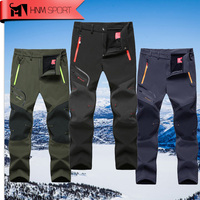 Man Warm Winter Waterproof Fishing Trouser Trekking Hiking pants Softshell outdoor Travel Plus size camping 6XL Drop Shipping