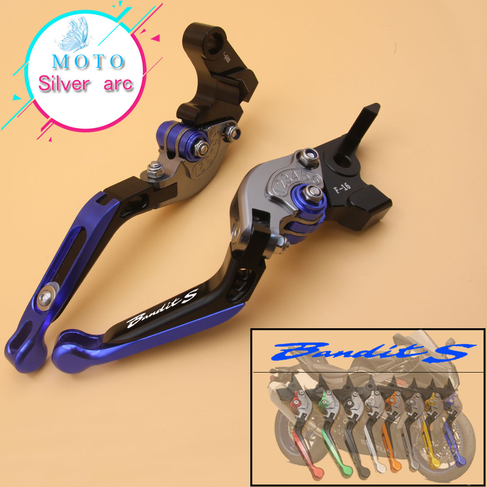 !With Logo CNC Golden Motorcycle Brake Clutch Levers For SUZUKI GSF 1250F BANDIT GSF 1200 GSX 1400 GSF1200 GSF1250F f 16 dc 80 motorcycle brake clutch levers for moto guzzi breva 1100 norge 1200 gt8v 1200 sport caponord etv1000