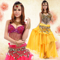 Belly Dance Costume Bollywood Costume Indian Dress Bellydance Dress Womens Belly Dancing Costume 4pcs/Set Tribal Skirt 5 Color