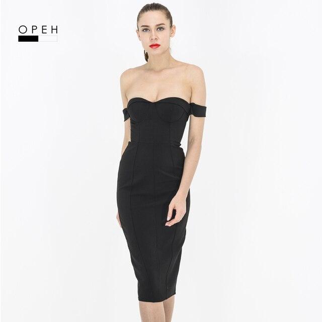 d787bd22de C220 Sexy Bodycon Dress strapless off shoulder white and black colors Kim  kardashian bodycon dress