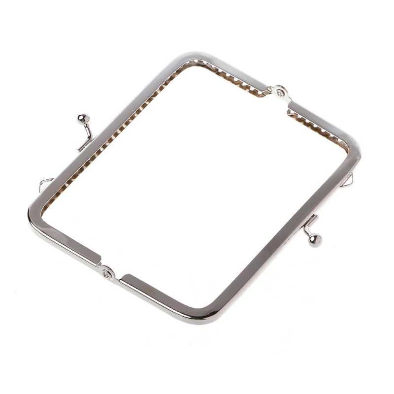 1pc 縫う穴財布ハンドバッグハンドル金属コインバッグキスクラスプフレーム 12 センチメートル
