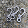EDC Alloy Carabiner Camp Snap Clip Hook Keychain Keyring Hiking Climbing Tool GS-0050