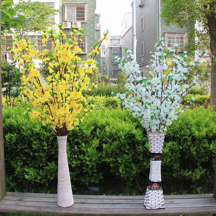 Lule mëndafshi të reja të bukurosheve Degë artificiale bukuroshe - Furnizimet e partisë - Foto 4