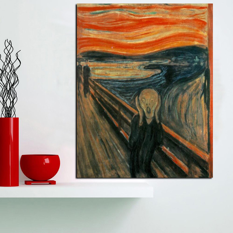 Digital HD Prints Edvard Munch Scream Abstract Oil Painting on Canvas Art Poster Wall Picture for Living Room Home Cuadros Decor (6)