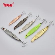 YAPADA Jigging 502 Fish Jump 10g/15g/20g/25g Treble Hook 66mm/75mm/83mm/89mm Metal Jigging Multicolor Fishing Lures