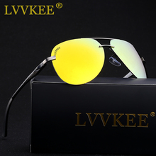 LVVKEE 2018 Brand Aluminum Magnesium Polarized Sunglasses aviation Sun glasses for Men/Women fishing Eyewear With Original Logo