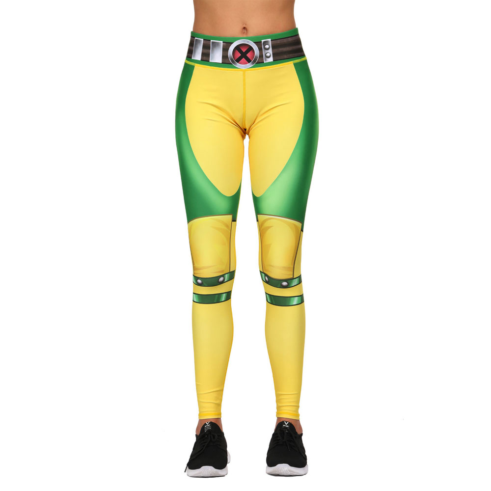Jessingshow Women   Leggings   Female Pants Workout Leggins Yellow Casual Sexy Printed Fitness   Legging   Plus Size Women Trousers