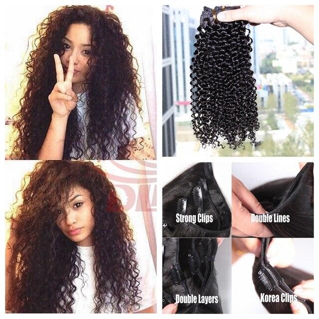 Hot Filipino Afro Kinky Curly Virgin Filipino Hair 8pcs 200gset