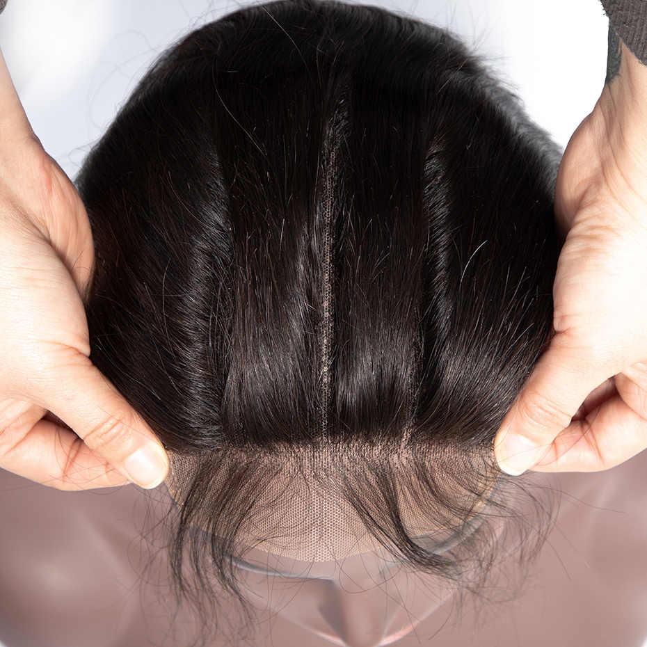 Gabrielle remy hair 6x6 синтетическое закрытие шнурка бразильские прямые волосы закрытие с детскими волосами бесплатно/средний/три части человеческих волос для наращивания