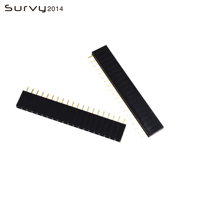 10PCS 2.54mm Single Row Female 3-40P PCB socket Board Pin Header Connector Strip Pinheader 4 <font><b>5</b></font> 6 7 10 <font><b>12</b></font> 20 40Pin For Arduino image