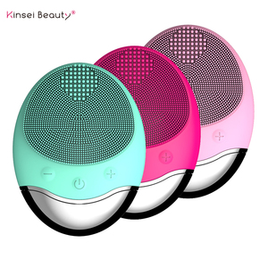 Image 1 - Gesichts Reinigung Pinsel Ultraschall Elektrische Silikon Gesicht Reinigung Pinsel Schönheit Maschine Drahtlose Ladegerät Tiefe Sauber Gesicht massage