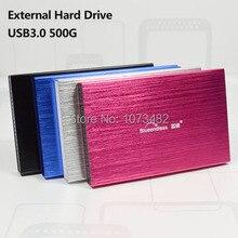 """Envío gratis A La Venta 2.5 """"USB3.0 HDD blueendless 500G disco duro Externo disco De Almacenamiento Portátil al por mayor y al por menor precios"""