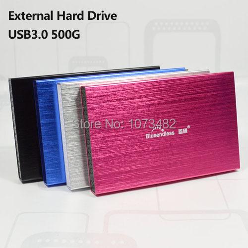 Frete grátis Na Venda de 2.5 ''HDD USB3.0 blueendless 500G disco rígido Externo Portátil de Armazenamento em disco atacado e varejo preços