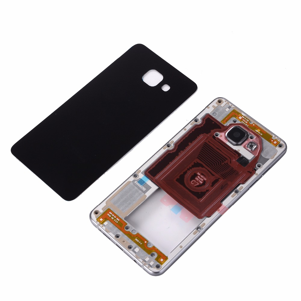 For Samsung A5 2016 A510 A510F Full Housing Metal Middle Frame Back Glass Battery CoverFor Samsung A5 2016 A510 A510F Full Housing Metal Middle Frame Back Glass Battery Cover