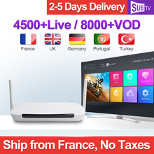 Q9 Quad Core RK3128 Media Player 1G+8G Android TV Box with 3500+ HD IPTV French Arabic Europe Subscriptions 1 year SUBTV Account