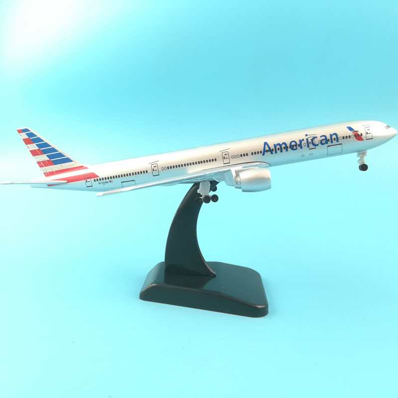 JASON TUTU Plane Model Airplane Model American Boeing B777 Aircraft Model 1:200 Diecast Metal 20cm Turkey Airplanes Plane Toy