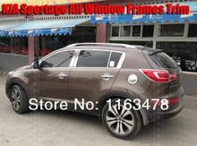 For KIA Sportage 2011 2012 2013 2014 2015 Stainless Steel All window Frame trim new