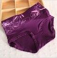 Yadi Hallyday fibra de viscose impressão cueca cuecas Ms. cintura grande metros das mulheres respirável 8850