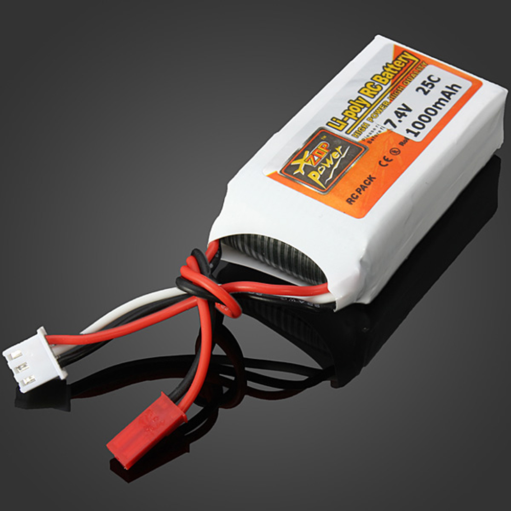 1pcs ZOP Lipo Battery 7.4V 1000mAh 25C 2S JST Plug For RC Drone Models Helicopters Airplanes Cars Boat Batteria