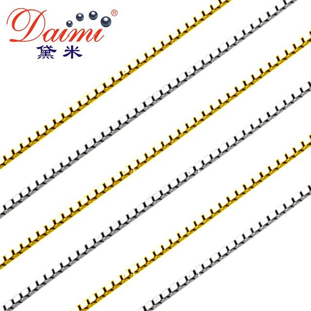 DAIMI Genuino Argento 925 Bianco/Giallo Argento Catena Prezzo di Costo di Vendita Argenteria 925 gioielli in argento sterling