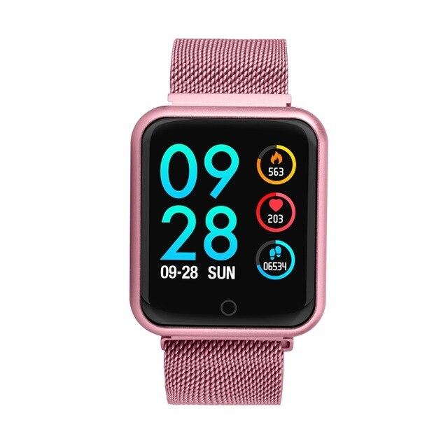 Smartwatch IP68 étanche Fitness fréquence cardiaque pression artérielle activité Tracker femmes Android IOS téléphone métal montre intelligente pour nager