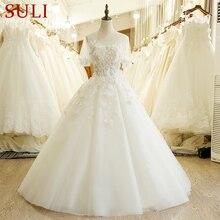 SL 205 Hohe Qualität A Line Kurzarm Hochzeit Kleid China 2017