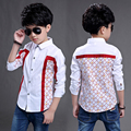 New Arrival 2017 boys plaid shirt Spring and Autumn big boys fashion long sleeve tops kids boutique casual clothing designer