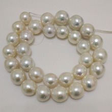 16 inches 12-14mm White AA+ Perfect Luster Round Edison Pearl Loose Strand