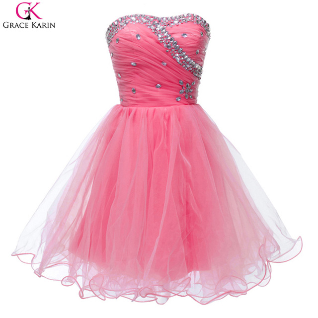 292e5436e2d84 Grace Karin Blue Pink White Black Women Sweetheart Graduation Party dresses  Short Homecoming Dress 8th Grade Prom Gown CL4503-in Homecoming Dresses ...