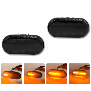 Image 2 - SUNKIA LED Side Marker Light for Smart 453 FORTWO 2014 2018 OEM Plug Turn Signal Lamp  Amber Flowing  Light  Error Free