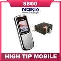 Nokia 100% abierto Original 8800 del teléfono celular con teclado ruso y lengua rusa, Reformado, envío libre rápido