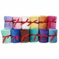 Square Babador Baby Bibs Velvet Burp Cloths 4 Pack