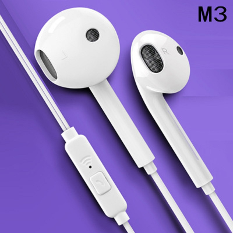 3.5mm Earphone Wired Headphones Music Earbuds Stereo Gaming Earphones With Micphone For iPhone Xiaomi Huawei Sport Headset-in Phone Earphones & Headphones from Consumer Electronics