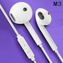 3.5mm 이어폰 유선 헤드폰 음악 이어폰 스테레오 게임 이어폰 마이크 아이폰 샤오미 화웨이 스포츠 헤드셋