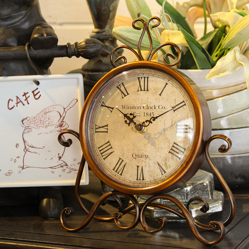 Best-selling Europe type restoring ancient ways art retro clock clock sitting room the bedroom wall clock 12 kinds of style