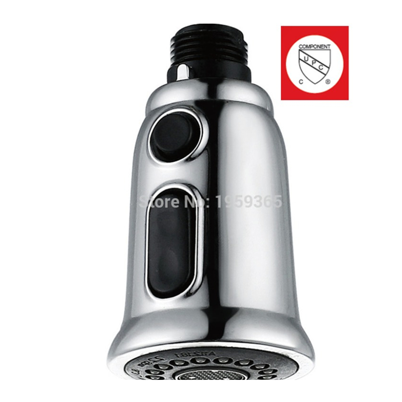 High quality 2 Function Modes Kitchen Shower Head Pull Out Spray Kitchen Faucet Replacement Brushed Nickel