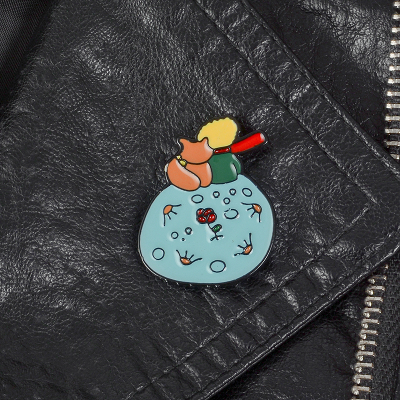Don't be a boring adult ! Le Petit Prince B-612 Planet The Little Prince Fox Rose Classical Fairy Tale Hard Enamel Brooch Pin 3