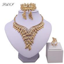 bd773bf94c3f Nueva moda Dubai oro Color joyería conjuntos diseño grande nigeriano Beads  africanos joyería conjunto las mujeres de diseño de v.