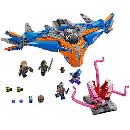 10748 Marvel Guardians Of the Galaxy A Milano vs The Abilisk Legoings Aircraft Building Block Brinquedos Tijolo Compatível