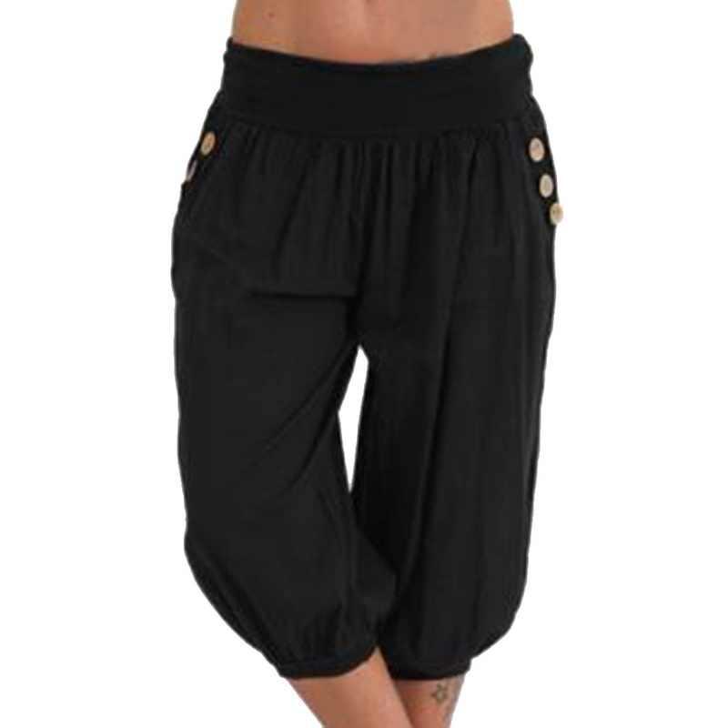 HEFLASHOR 2019 新ブランド夏パンツ脂肪妹ワイド脚パンツ脂肪人ファッションの女性は大サイズ 5XL