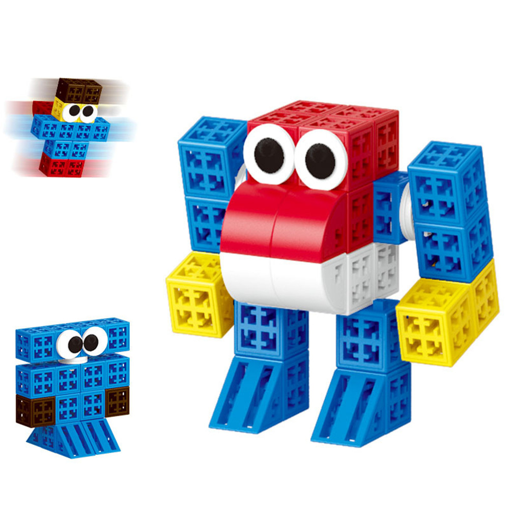 34/48/88/138/188pcs Blocks Cubes Unit Plastic Interlocking Construction Model Building Set of Early Educational Toys For Child 2