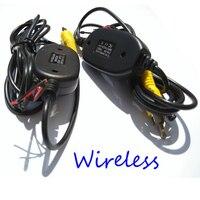 Park Araç Kablosuz dikiz kamera ters Araba DVD yedekleme RCA Video 2.4 Ghz verici Alıcı kiti Nissa Kia için BMW Ford