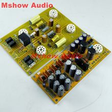 Famous circuit 6SN7 Tube preamplifier DIY KIT refer Cary AE 1 preamp HIFI audio option bare pcb board pre amp