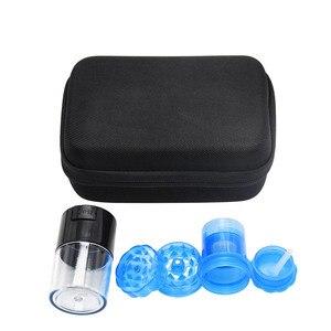 Image 3 - HORNET Tobacco Bag Set Plastic Herb Grinder Storage Jar Metal Tin Silicone Smoking Pipe One Hitter Rolling Machine Glass Tips