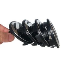 4szt zestaw OEM 65mm Wheel Center Cap logo hubcap odznaka emblemat dla Volkswagen CC mk5 Golf 4 5 6 7 Passat Phaeton BBS tanie tanio Naklejki 6 5 cm Inne naklejki 3D Logo pojazdu Nie pakowane Opony RIM O Honsiu Słowy
